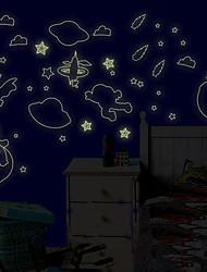 feliz adesivo de parede de fluorescência universo ambiental