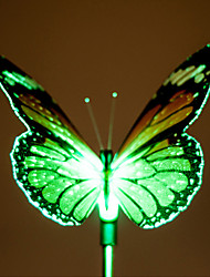 2PCS Color Changing LED Solar Powered Garden Lamp In Butterfly Design