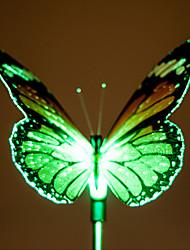 2 stuks kleur veranderende led zonne-energie tuin lamp in vlinderontwerp