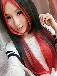 Fashion Cartoon No Capacitance High Temperature Wire And Red blend  Color wig