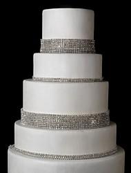 Wedding Décor 8Rows  Cake Phone DIY Bag Accessior Meshing Rhinestones SS17 Silver Claw