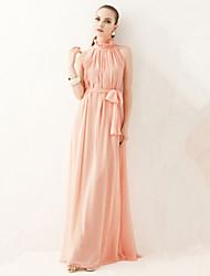 N.N.N Women's Sexy/Party Round Sleeveless Dresses (Chiffon/Cotton)