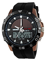 SKMEI® Men's Sporty Watch Solar Power Analog-Digital Slide Rule/Calendar/Chronograph/Dual Time Zones/Alarm Cool Watch Unique Watch