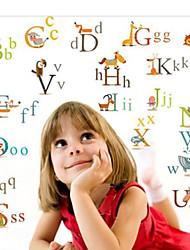 zooyoo® removíveis bonito colorido 26 palavras de decoração para casa adesivo de parede adesivos de parede para quarto de crianças