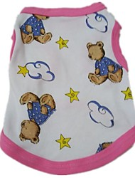 The New 2015 Cotton Dog Vest Printed The Cartoon Bear (XS--L), Dog Clothes, Shirts, Readymade Garments, Pet
