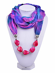 D Exceed   Women Magic Design Infinity Ring Fashion Scarf with Rose Red Irregular Brush Painting Beads Pendant Scarfs