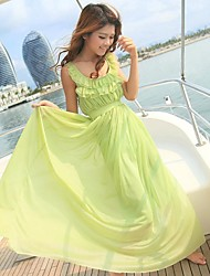 Women's Holiday Style Slim Long Dress