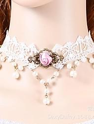 Braut reiche Atmosphäre Qualität Blumenspitze Halskette