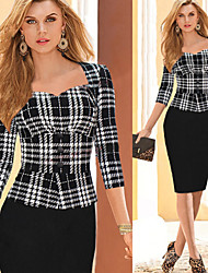 Monta Women's Fashion Casual Splicing Pencil Dress