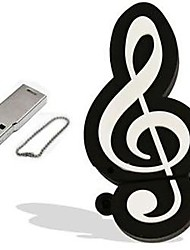 desenhos animados modelo de nota musical 8GB USB 2.0 flash drive