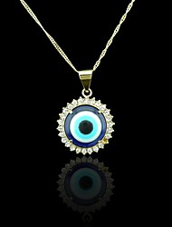 18K Real Gold Plated Evil Eye Pendant
