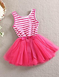 Girl Summer Dress Children Sleeveless Dresses Kids Striped With Bow Flower Party Clothing Baby Fashion Clothes