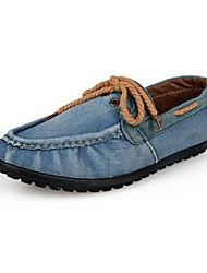 Chaussures Hommes Décontracté Bleu / Vert / Marine Toile de jean Chaussures Bateau