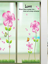 Wall Stickers Wall Decals, Style Flower Fragrance PVC Wall Stickers