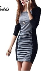Nuo wei si ® Women's  Fashion Classic Fitted Dress