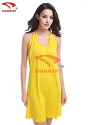 sexy / praia / mangas elástico bonito das mulheres acima vestido joelho (poliéster / lycra) vb002