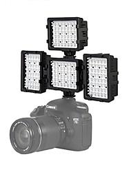 4 * 48h-LED video luce fotografia per Canon 7D 6d 5diii Nikon D600 D800 luci D3100 D7000 fotocamera dslr dv