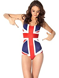 UK Flag Women Polyester Wireless Halter One-size One-pieces Swimwear