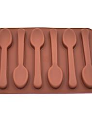 6-Loch-Löffelform Eisform Schokoladenpuddingform (Farbe zufällig)