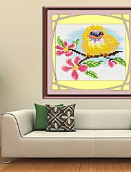 aves cruzan kit de punto de cruz de diamantes impresa europa puntada decoración del hogar de la pared de la costura 18 * 20cm