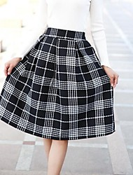 Women's Casual Check Skirts