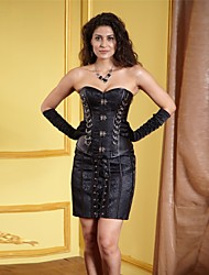 jacquard impressão do punk leatherette shapewear espartilhos das mulheres sexy lingerie shaper