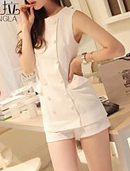 Women's Casual/Party Medium Sleeveless Short Blazer (Twill/Nylon)