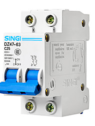 DZ47-63 2p25a RCCB résiduelle disjoncteur à courant