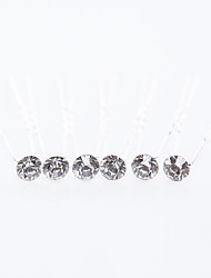 Rhinestone Wedding/Special Occasion Hairpins (Set of 6)