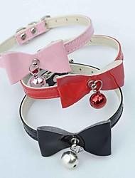 Rojo/Negro/Rosado - Retractable/Cosplay - Cuero PU - Collar - Perros/Gatos -