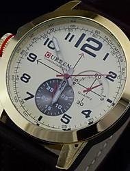 Men's Watch Japanese Quartz Analog IP Golden Plating Case 30M Water Resistant Sports Wrist Watch