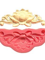 цветение цветок лотоса рельеф торт&шоколад плесень