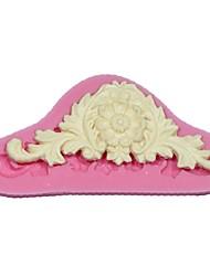 Fiore 3d vite zucchero a velo muffa fondente nozze modellazione torta della muffa che decora la muffa confine della torta del silicone