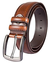 fondsun nuovo stile casual larghezza vera pelle 3,8 centimetri Mens Belt Fashion Business (1)
