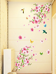 pared calcomanías pegatinas de pared, estilo mariposa melocotón pvc pegatinas de pared