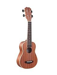 """Tom 21 """"ukulele acústica mogno soprano com corda aquila rosewood"""