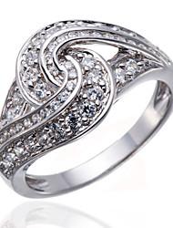 Sterling Silver AAAAA Cubic Zirconia Engagement Wedding Eternity Ring