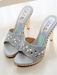 Women's Shoes Stiletto Heel Peep Toe Sandals Dress Black/Silver/Gold