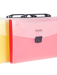 A4 Red Plastic Portable School Paper Folder