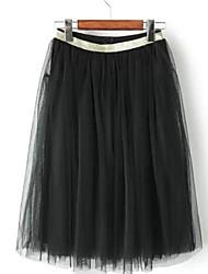 женские марли сгиба упругие талии юбки