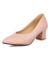 Women's Shoes Pointed Toe Chunky Heel Glitter Pumps Shoes More Colors available