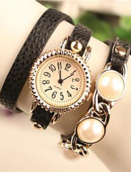 Women's 2015 The Latest Fashion Pearl Leather  Quartz Watch(Assorted Colors)