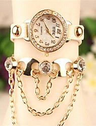 Women's 2015 The Latest Fashion  Chained  Leather  Quartz Watch(Assorted Colors) Cool Watches Unique Watches