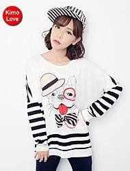 kimolove ™ coreano impresión ocasional lindo de la camiseta de las mujeres