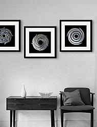 e-home® arte lona moldada, círculo enquadrado tela de definição de impressão de prata, de 3 de
