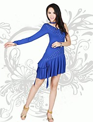 Latin Dance Latin Dance Performance Women's Polyester Square Dance Performance/Training Dress(More Colors)