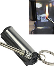 Camping Waterproof Reusable Match Cylinder Stainless Steel Flint Lighter Matchstick 5.5*1.2*1.2 cm