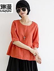 Women's Orange/Yellow Shirt ½ Length Sleeve