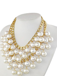 Broke Girls caroline cosplay collar de perlas blancas