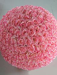 "23.6"" Modern Style Pink Simulation Flower Ball Silk Cloth Decorative Flower Ball"